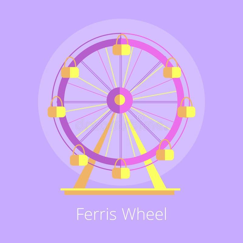 Ejemplo de Ferris Wheel Amusement Park Vector stock de ilustración