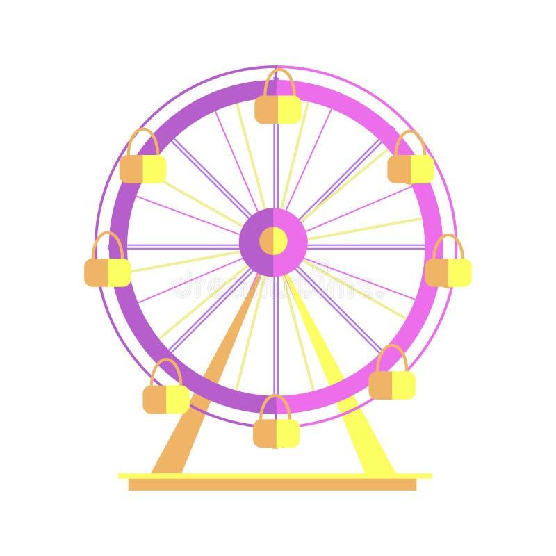 Ejemplo de Ferris Wheel Closeup Poster Vector ilustración del vector