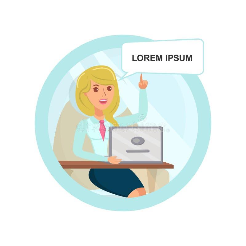 Ejemplo de Found Problem Solution de la empresaria stock de ilustración