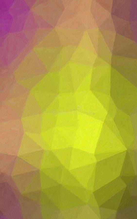 Ejemplo de Impasto amarillo limón y púrpura vertical con el fondo del cepillo suave libre illustration