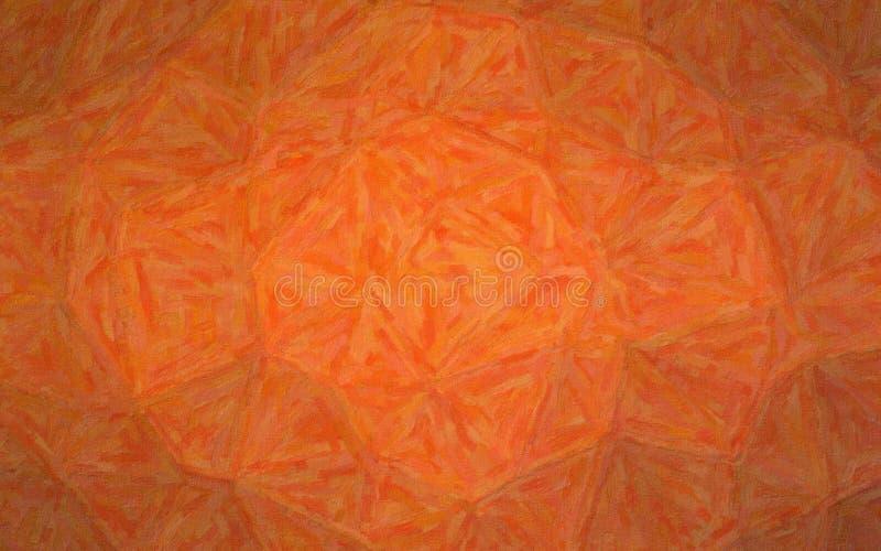 Ejemplo de Impasto anaranjado con el fondo de las variaciones del color imágenes de archivo libres de regalías