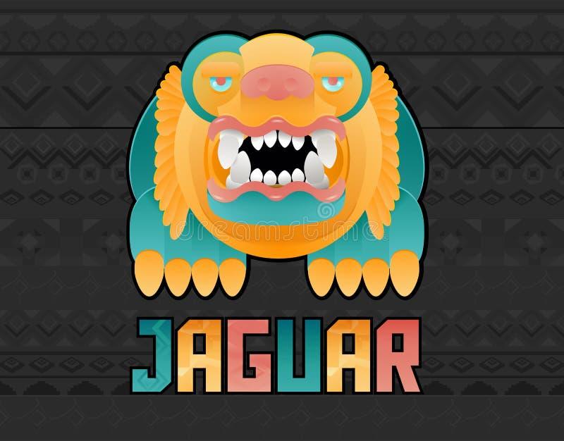 Ejemplo de Jaguar Toon ilustración del vector