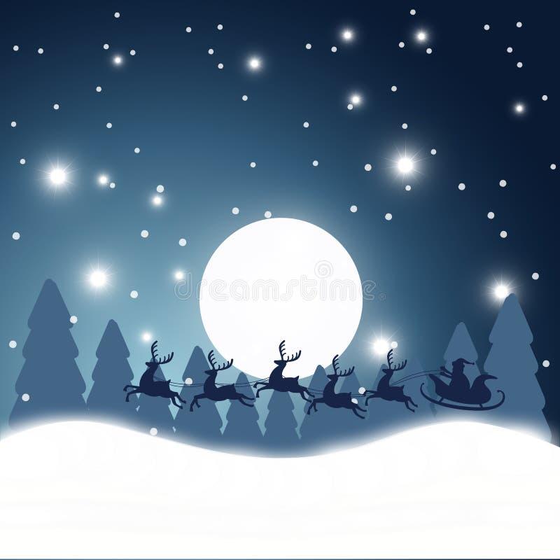 Ejemplo de la acción del fondo de la Navidad stock de ilustración