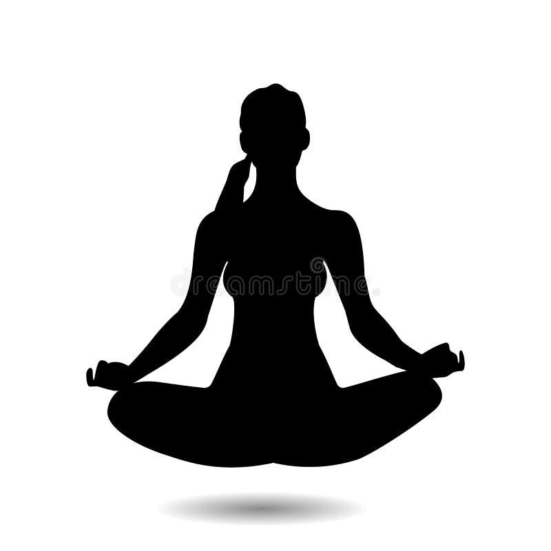 ejemplo de la actitud de la yoga imagenes de archivo