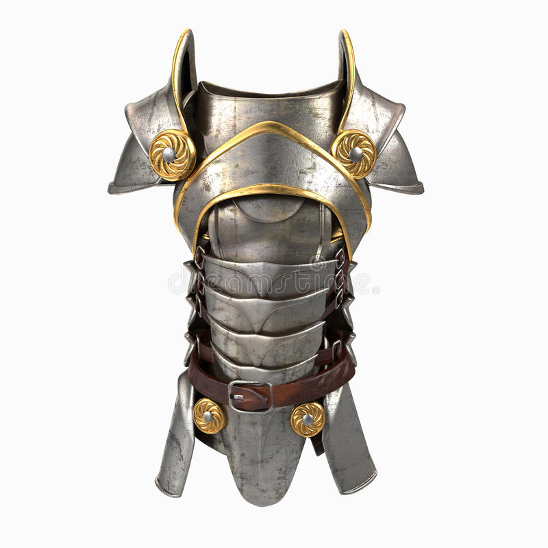 Ejemplo de la armadura 3d stock de ilustración
