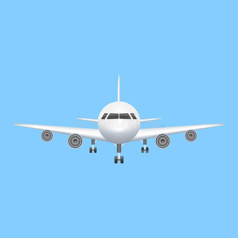Ejemplo de la aviación del vector del icono del aeroplano libre illustration