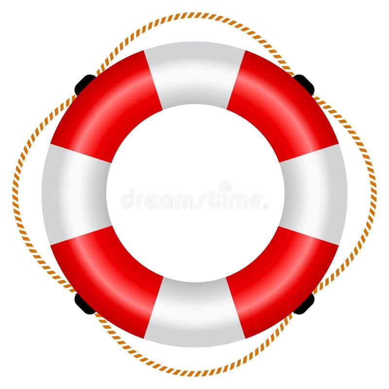 Ejemplo de la balsa salvavidas libre illustration