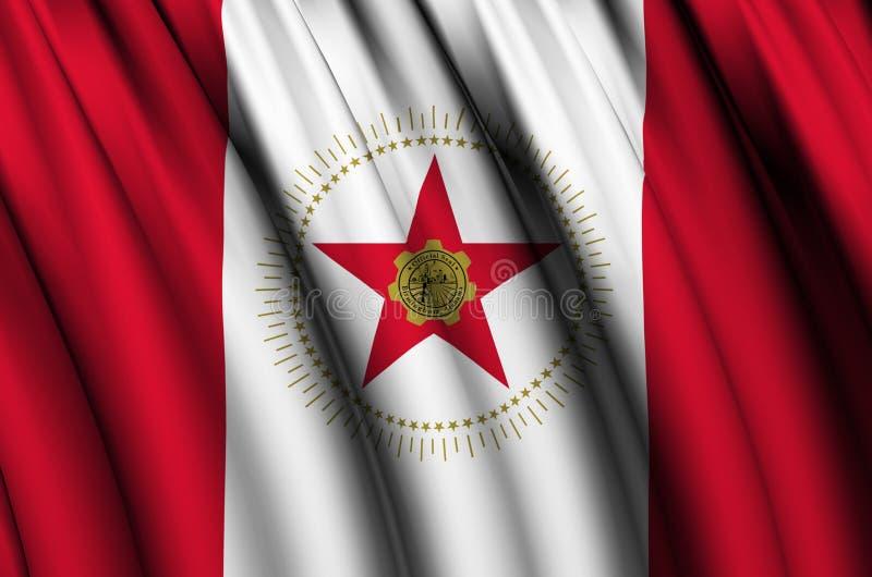 Ejemplo de la bandera de Birmingham que agita Alabama ilustración del vector