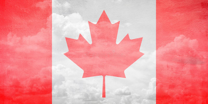 Ejemplo de la bandera de Canadá imagen de archivo