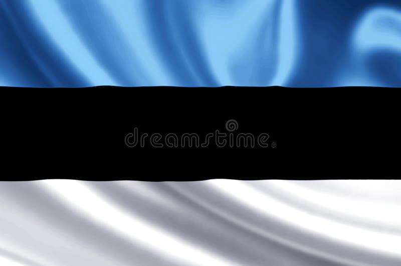 Ejemplo de la bandera de Estonia stock de ilustración