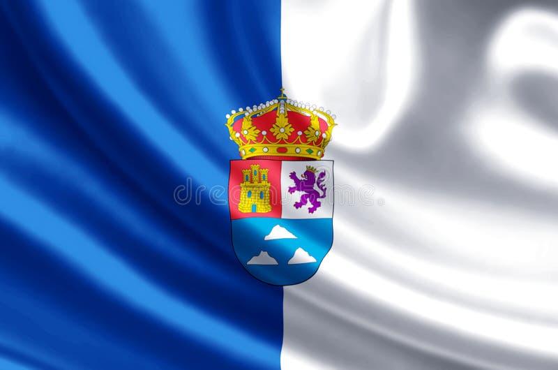 Ejemplo de la bandera de Las Palmas ilustración del vector