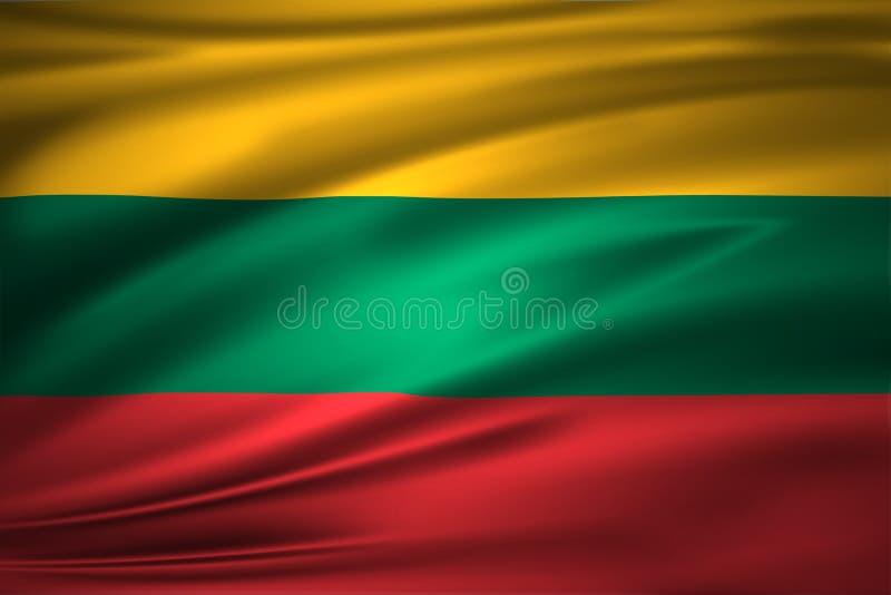 Ejemplo de la bandera de Lituania libre illustration