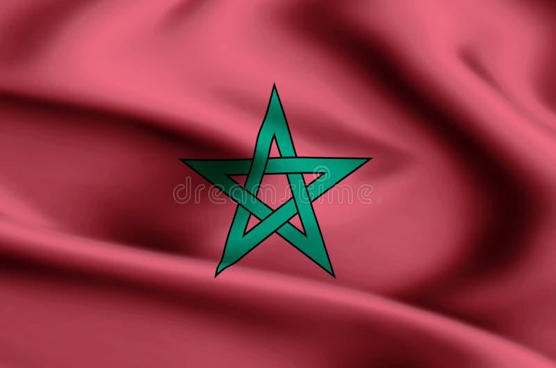 Ejemplo de la bandera de Marruecos libre illustration