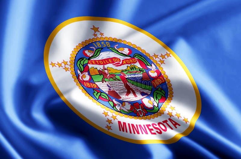 Ejemplo de la bandera de Minnesota libre illustration