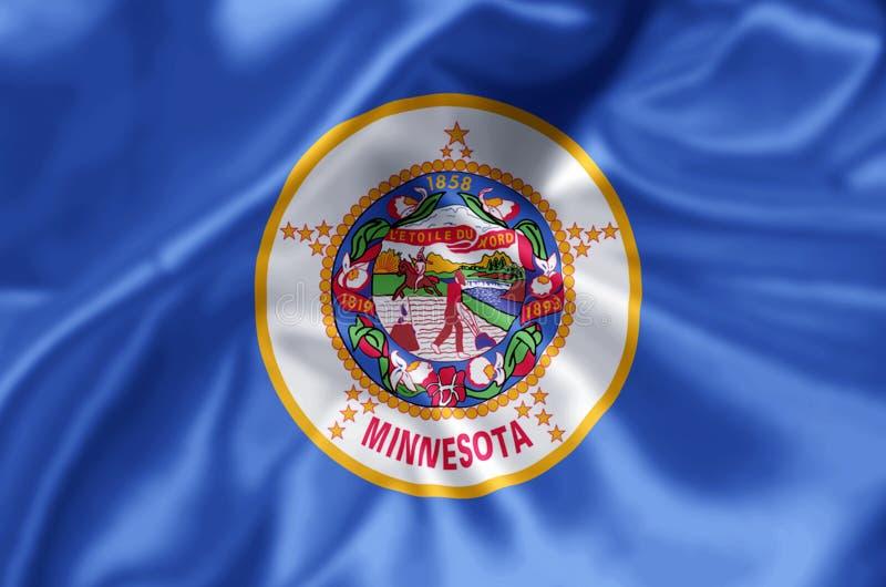 Ejemplo de la bandera de Minnesota ilustración del vector
