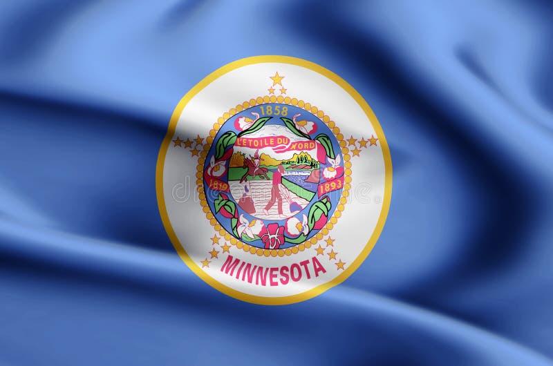 Ejemplo de la bandera de Minnesota stock de ilustración
