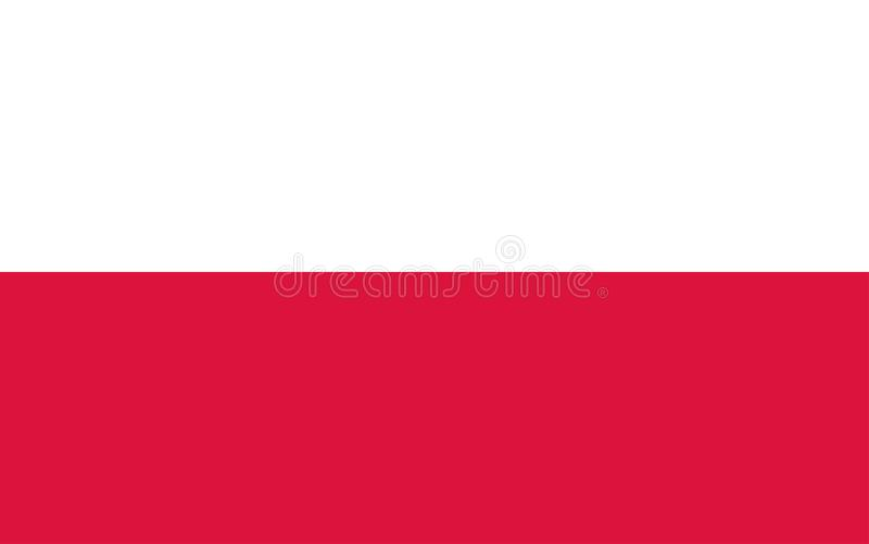 Ejemplo de la bandera de Polonia stock de ilustración