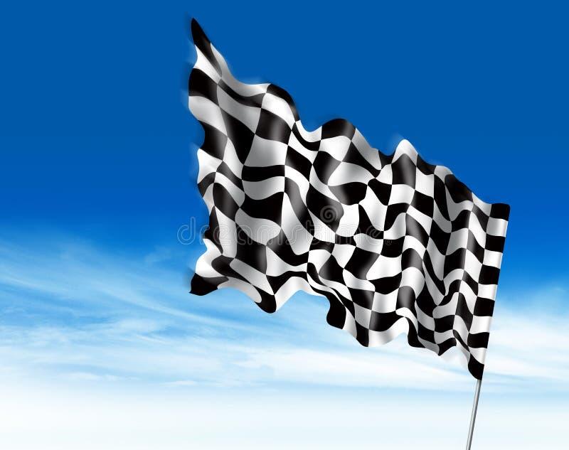 Ejemplo de la bandera que gana stock de ilustración