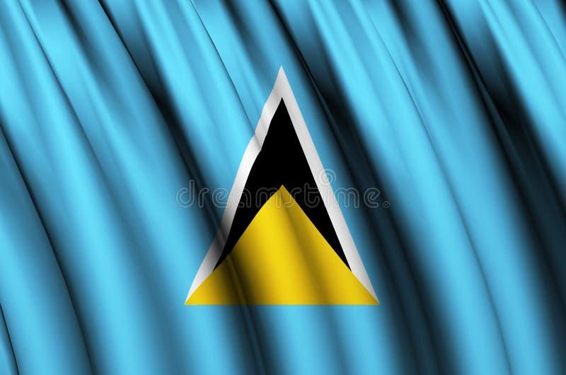 Ejemplo de la bandera de la Santa Lucía que agita libre illustration