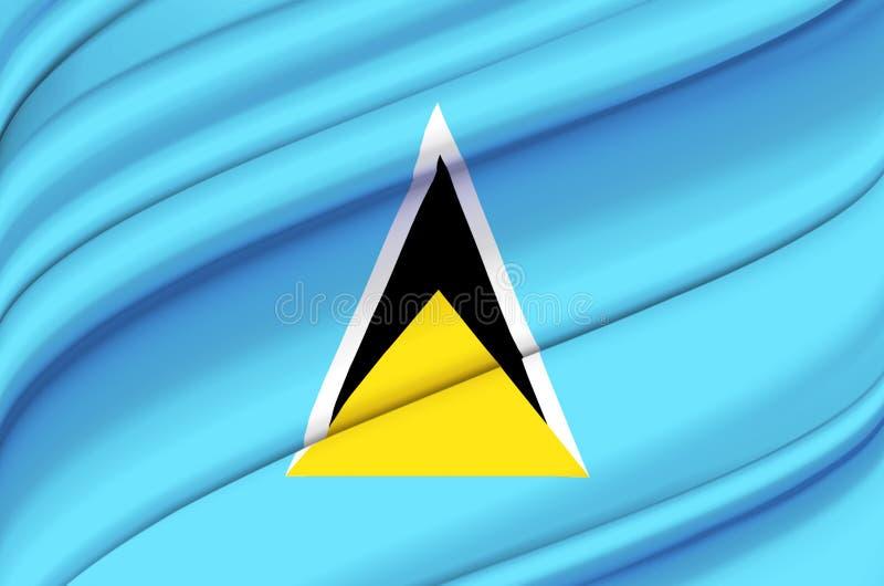 Ejemplo de la bandera de la Santa Lucía que agita stock de ilustración
