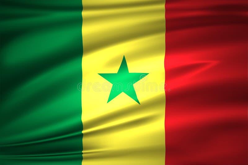 Ejemplo de la bandera de Senegal stock de ilustración