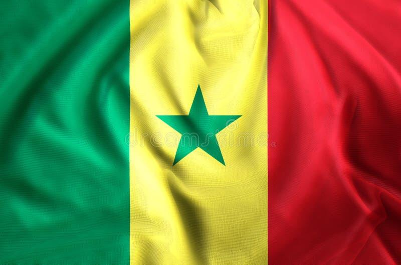 Ejemplo de la bandera de Senegal libre illustration