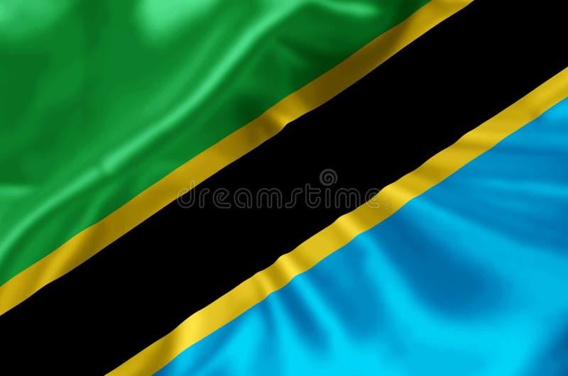 Ejemplo de la bandera de Tanzania libre illustration