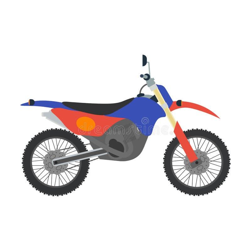Ejemplo de la bici del motocrós del vector en el fondo blanco ilustración del vector
