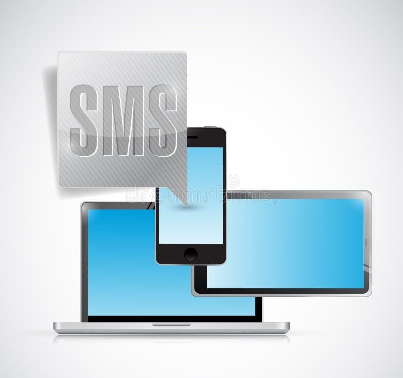 Ejemplo de la burbuja de la electrónica del SMS stock de ilustración