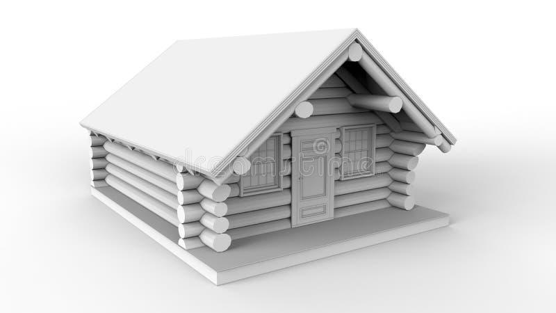 Ejemplo de la cabaña de madera ilustración del vector