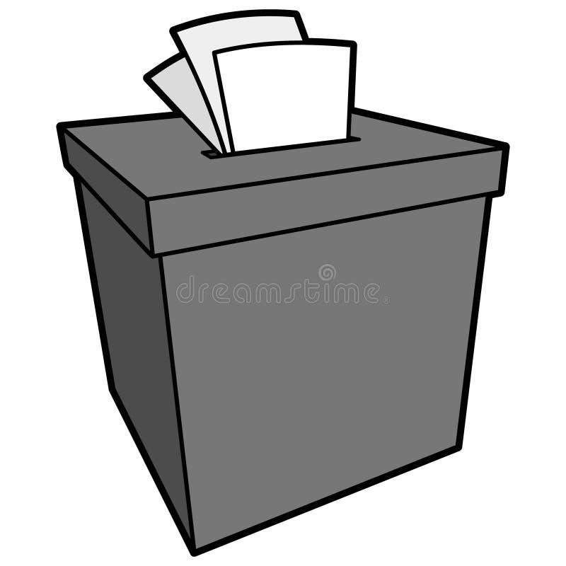 Ejemplo de la caja de denuncia stock de ilustración