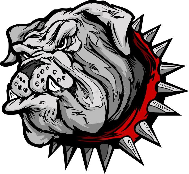 Ejemplo de la cara de la historieta del dogo ilustración del vector