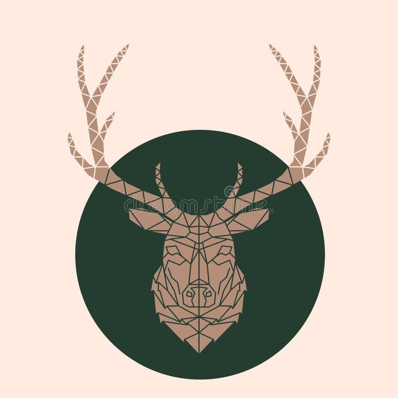 Ejemplo de la cara de los ciervos ilustración del vector
