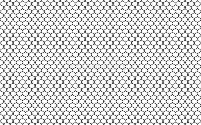 Ejemplo de la cerca de la alambrada aislado en el fondo blanco Vector la barrera de la prisión, elemento asegurado del gráfico de ilustración del vector