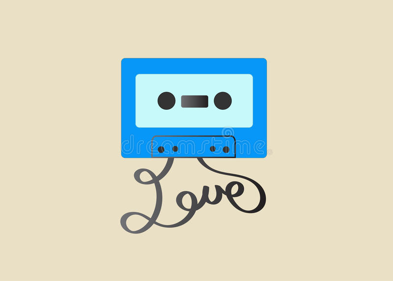 Ejemplo de la cinta de casete fotos de archivo libres de regalías