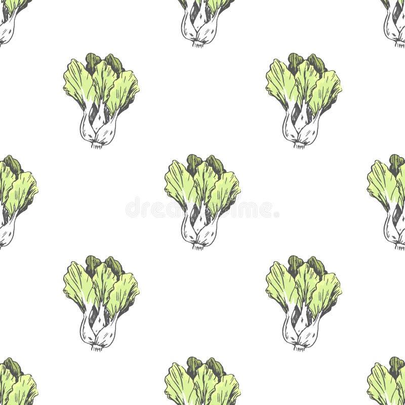 Ejemplo de la col de China en textura sin fin libre illustration
