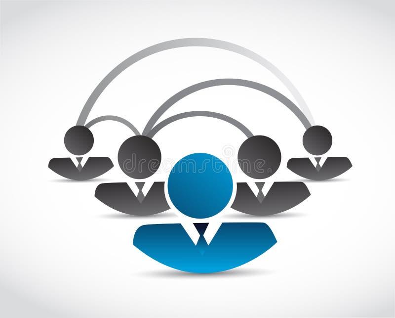 Ejemplo de la comunicación de la red de la gente stock de ilustración