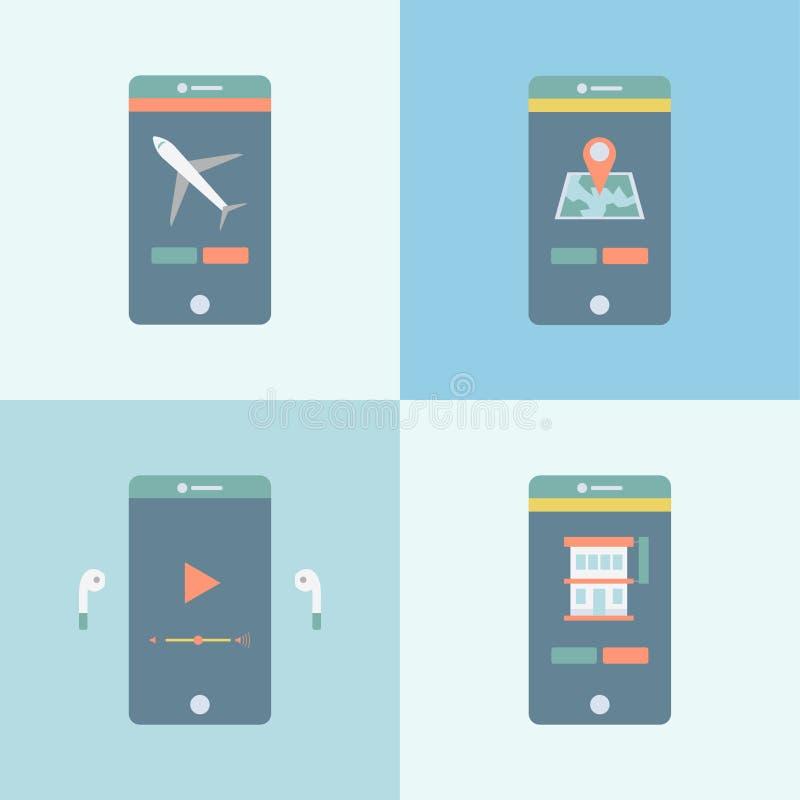 Ejemplo de la conectividad móvil aislado stock de ilustración