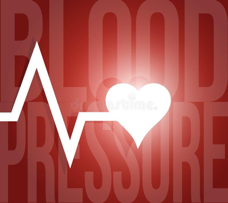 ejemplo de la cuerda de salvamento de la presión arterial ilustración del vector