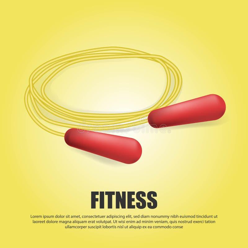 Ejemplo de la cuerda de salto de Realistuc 3D, símbolo de la aptitud del deporte - icono del ejercicio de formación libre illustration