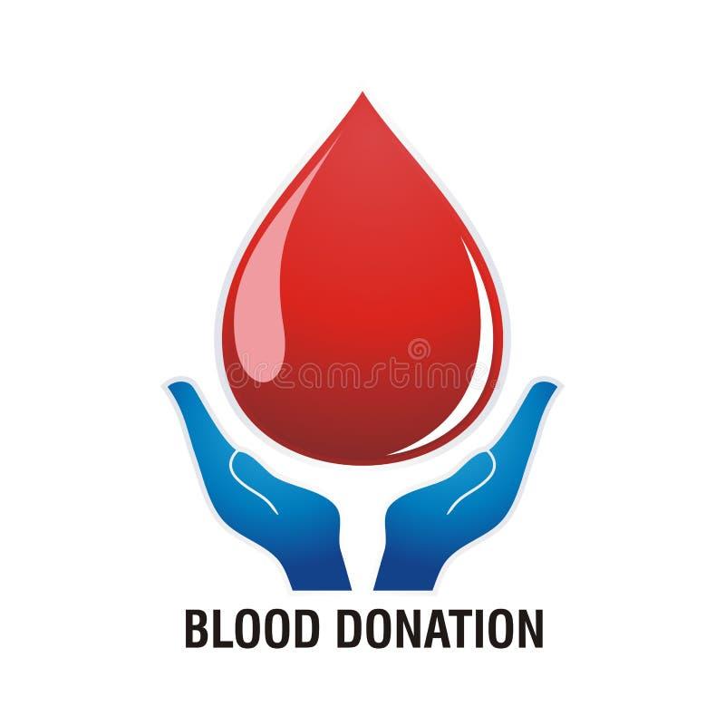 Ejemplo de la donación de sangre y vector de la plantilla ilustración del vector