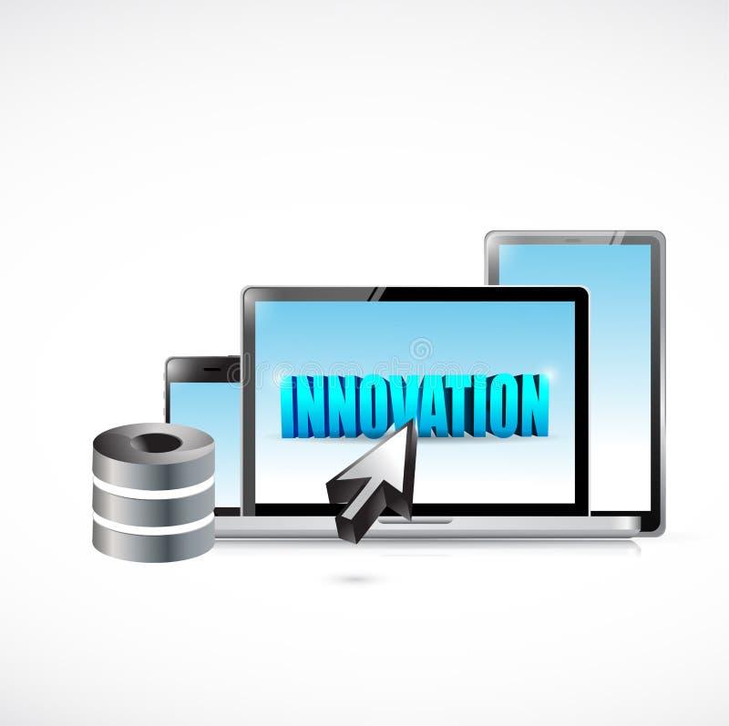 Ejemplo de la electrónica de la innovación ilustración del vector