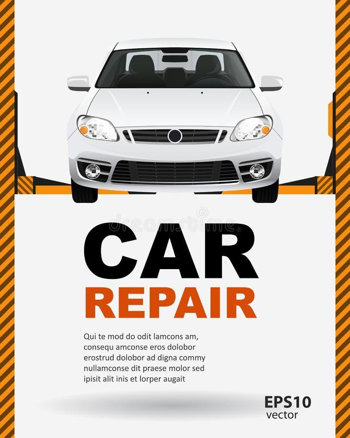 Ejemplo de la elevación de la reparación del coche libre illustration