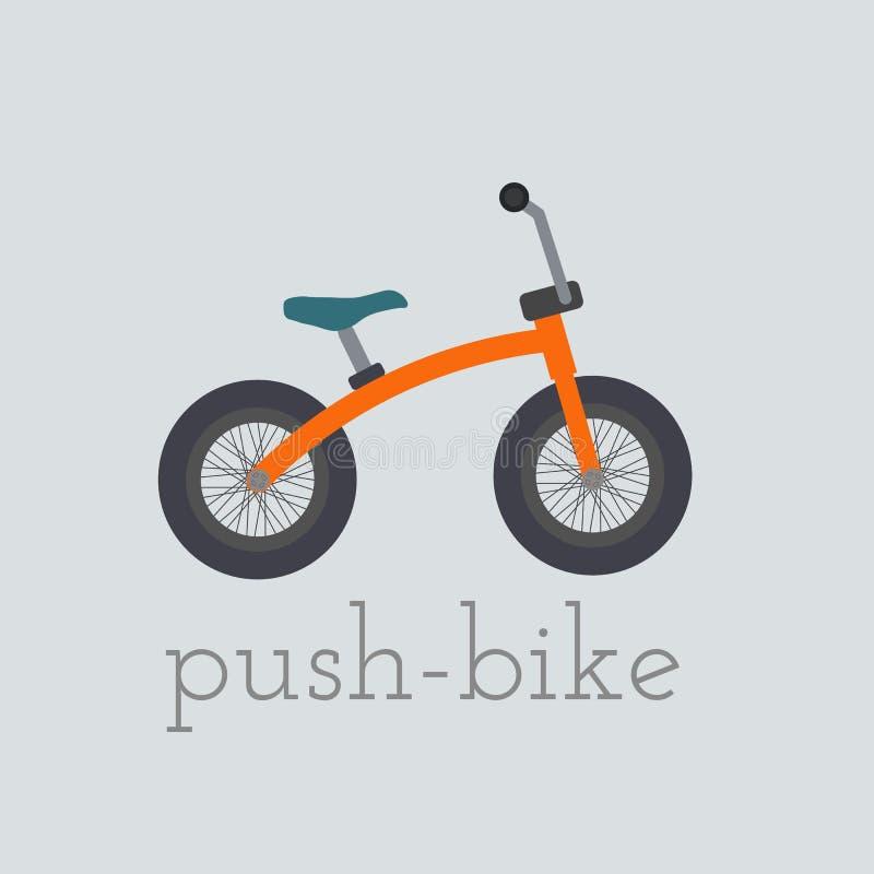 Ejemplo de la empuje-bici del vector ilustración del vector