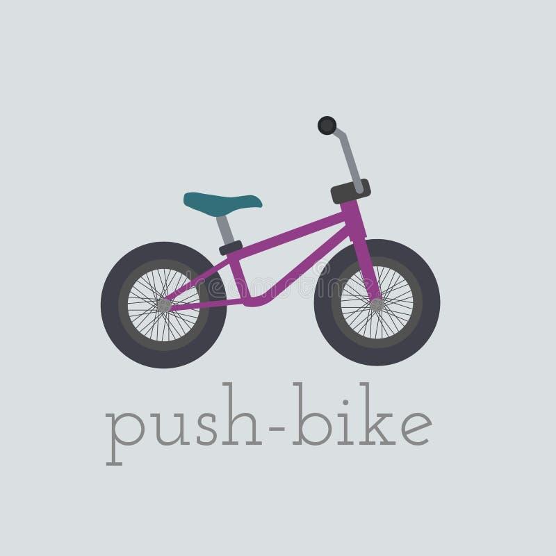 Ejemplo de la empuje-bici del vector libre illustration