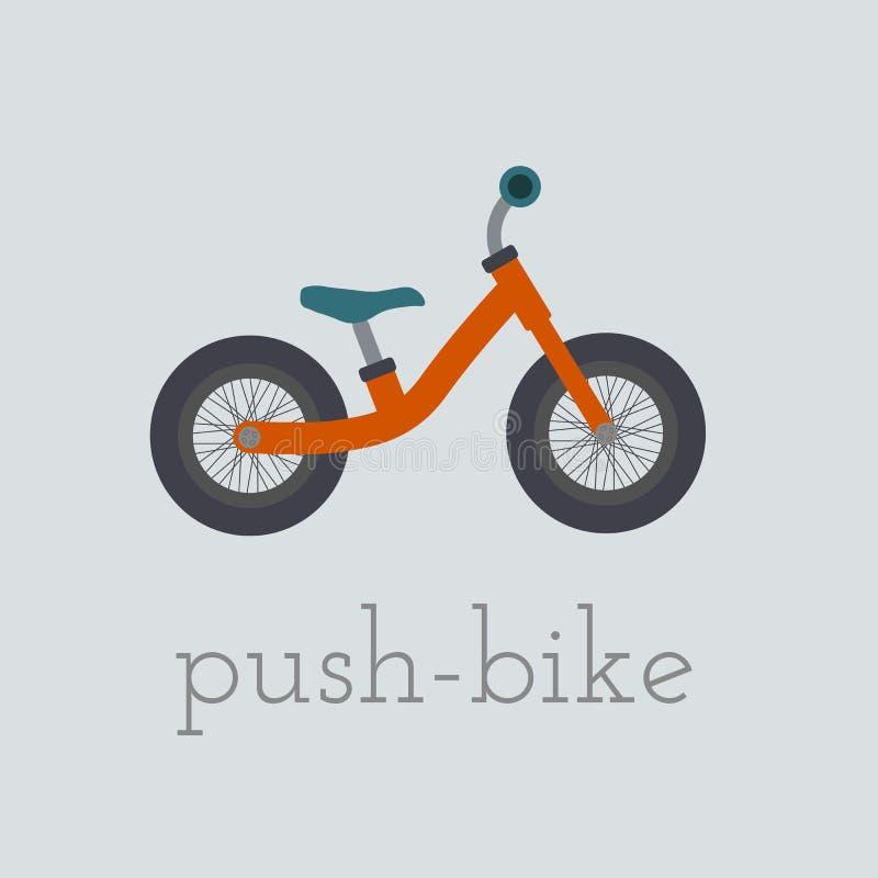 Ejemplo de la empuje-bici del vector stock de ilustración
