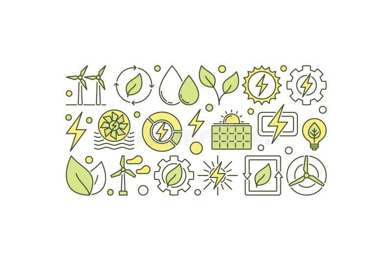 Ejemplo de la energía del eco del vector stock de ilustración