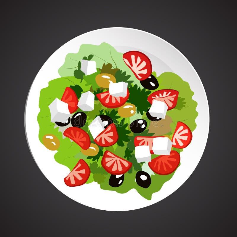 Ejemplo de la ensalada ilustración del vector