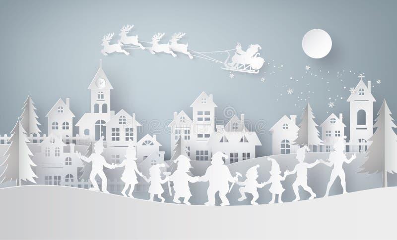 Ejemplo de la Feliz Navidad y de la Feliz Año Nuevo libre illustration