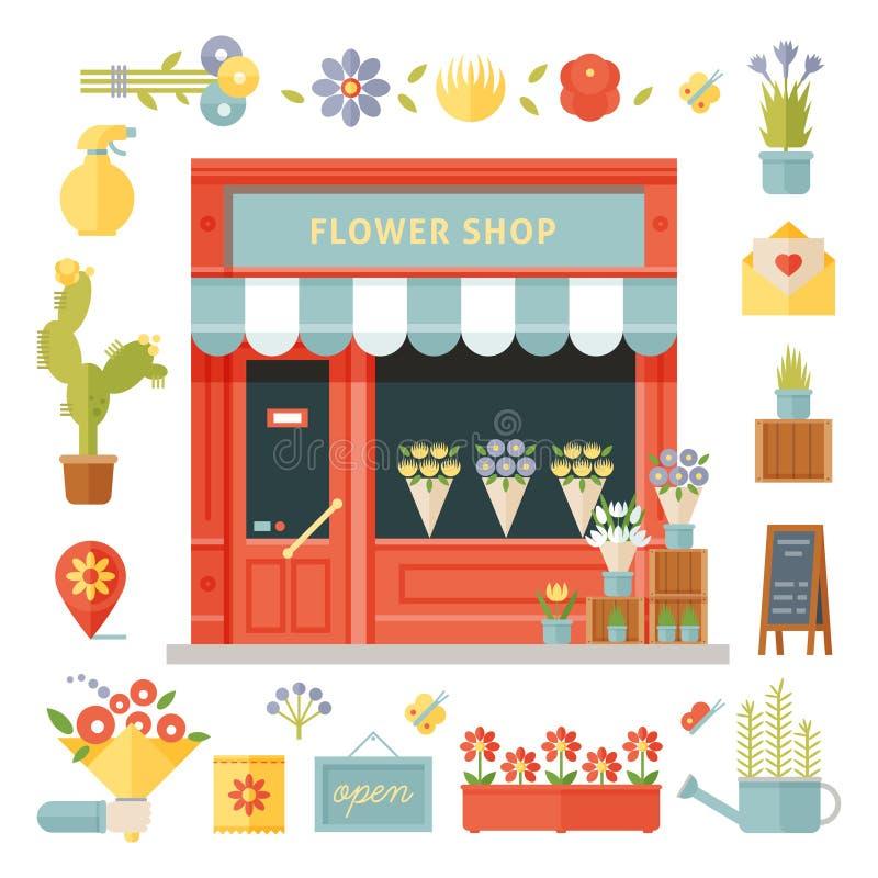 Ejemplo de la floristería stock de ilustración